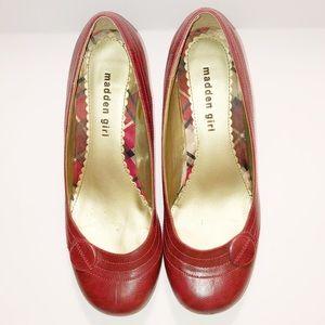 Madden Girl Dark Red Kitten Heels Size 8.5
